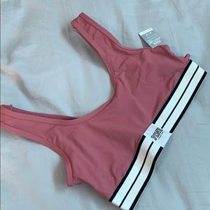 NWT! PINK VS Sport Bar Top M